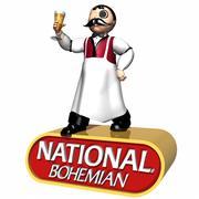 national bohemian beer mascot 3d model