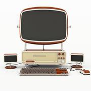 컴퓨터 오래 된 스타일 3d model