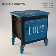 Dialma Brown Sängskåp DB002523 3d model