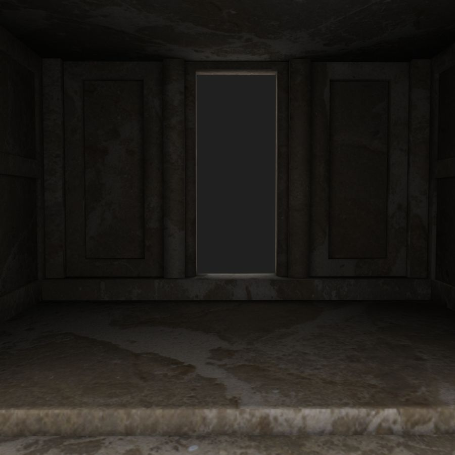 Cave Entrace royalty-free 3d model - Preview no. 7