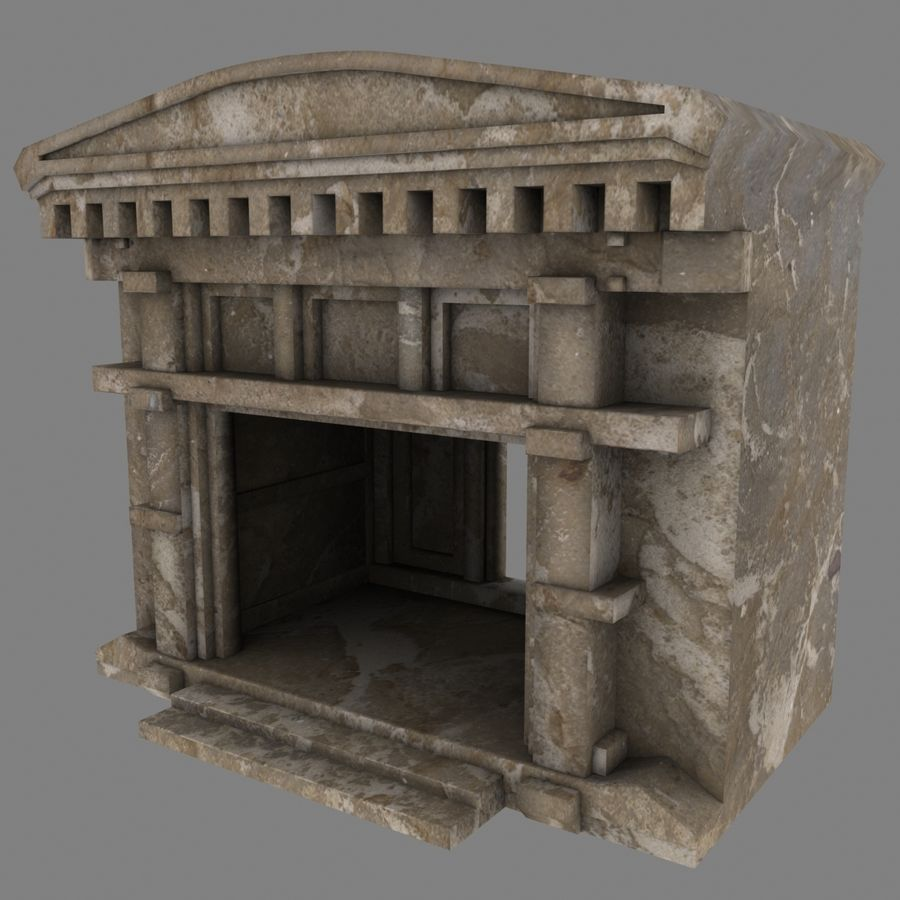 Cave Entrace royalty-free 3d model - Preview no. 5