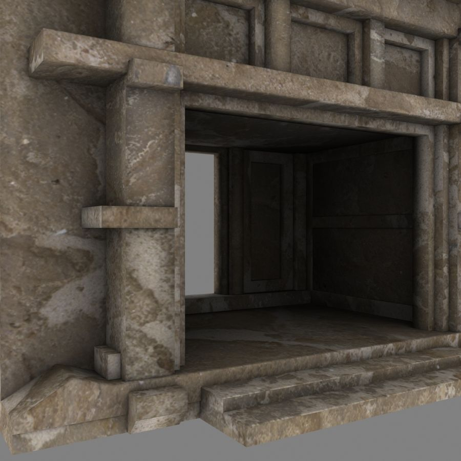 Cave Entrace royalty-free 3d model - Preview no. 6