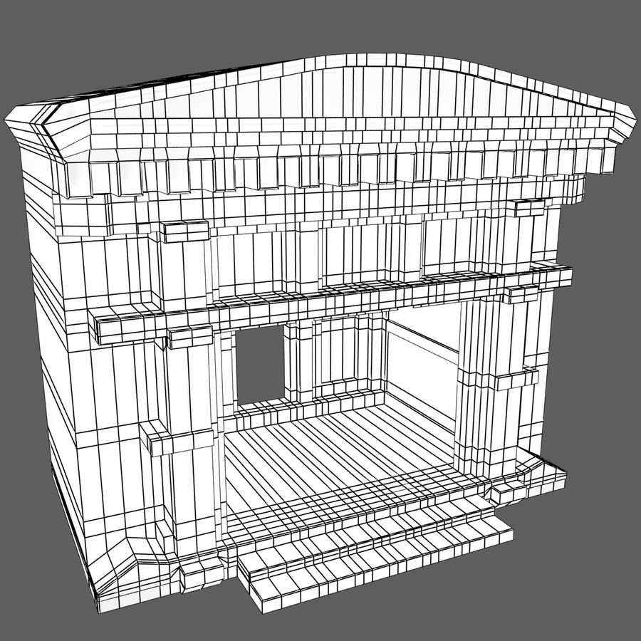 Cave Entrace royalty-free 3d model - Preview no. 10