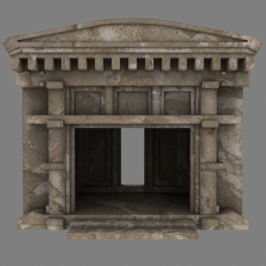 Cave Entrace royalty-free 3d model - Preview no. 2