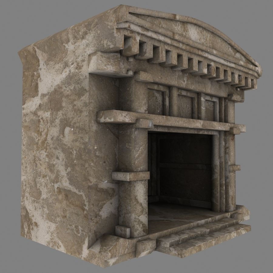 Cave Entrace royalty-free 3d model - Preview no. 4