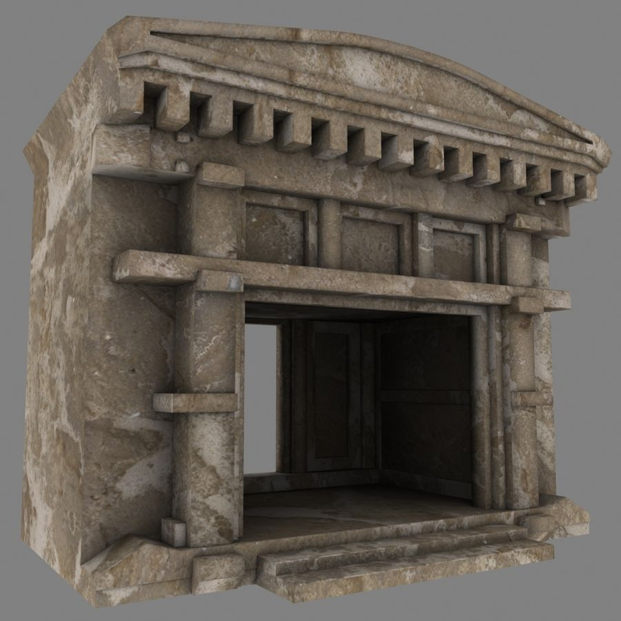 Cave Entrace royalty-free 3d model - Preview no. 3