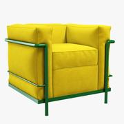 Cassina LC2扶手椅 3d model