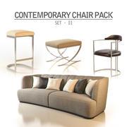 Zeitgenössisches Stuhlpaket - Set II 3d model