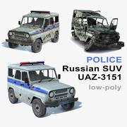 UAZ-3151 Politie-set 3d model