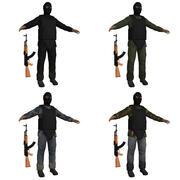 テロリストSパック 3d model