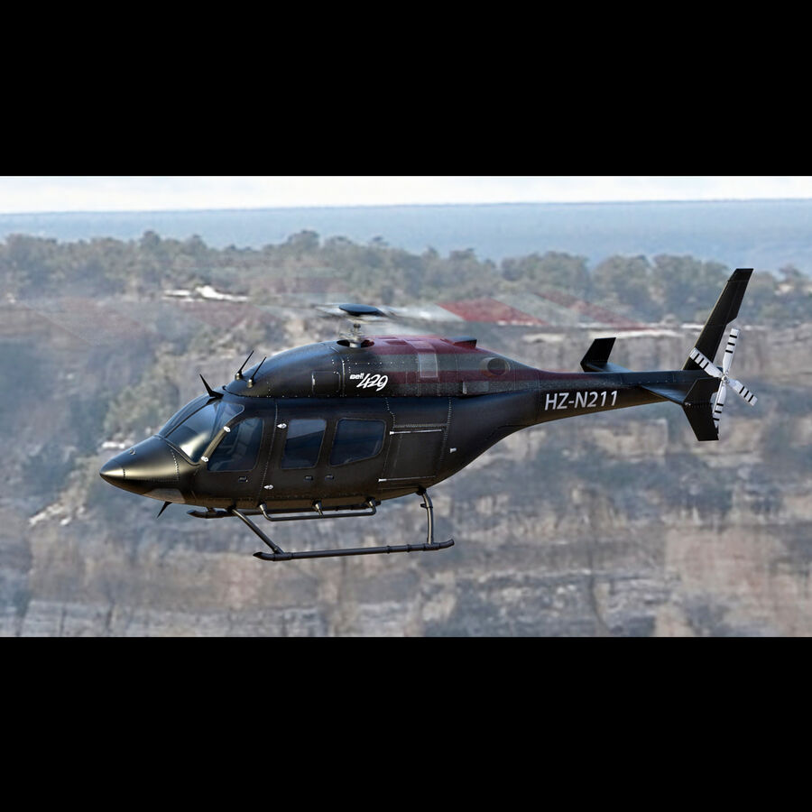 Helikopter Bell 429 royalty-free 3d model - Preview no. 5