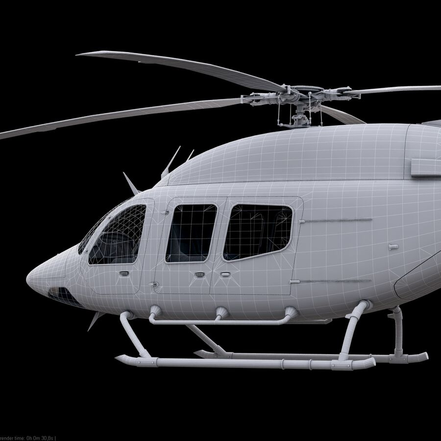Helikopter Bell 429 royalty-free 3d model - Preview no. 23