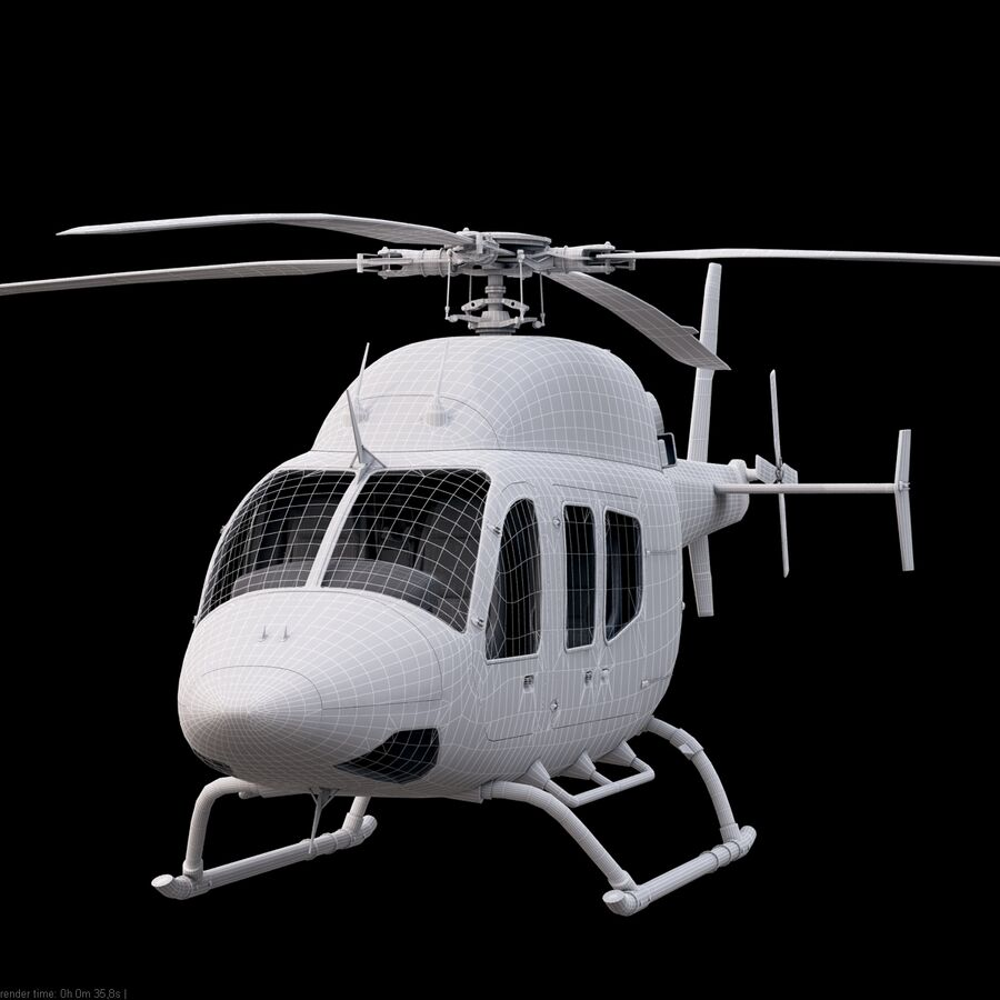 Helikopter Bell 429 royalty-free 3d model - Preview no. 18