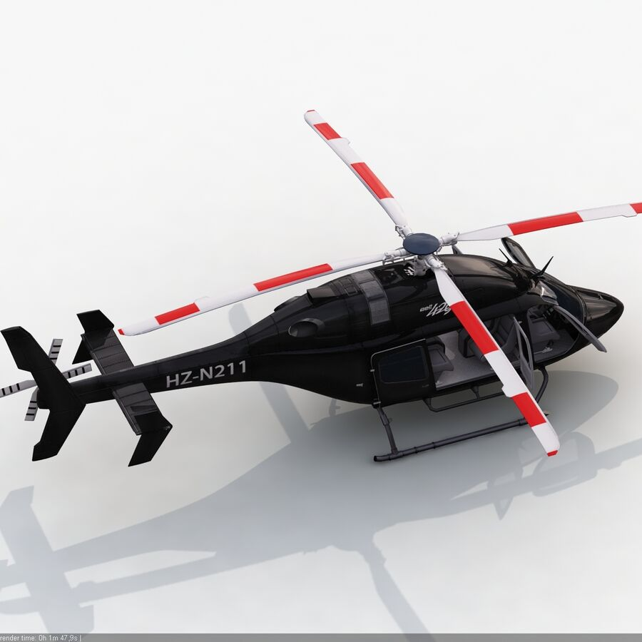 Helikopter Bell 429 royalty-free 3d model - Preview no. 10