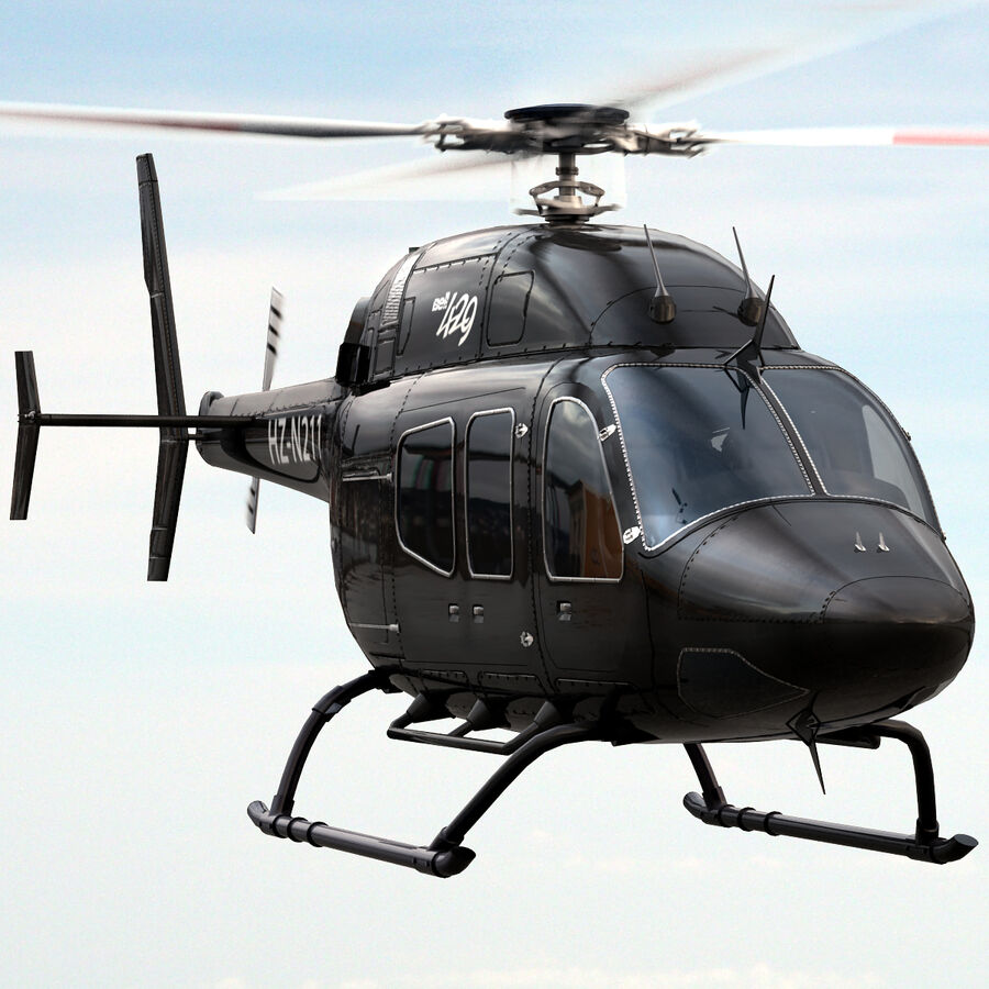 Helikopter Bell 429 royalty-free 3d model - Preview no. 2
