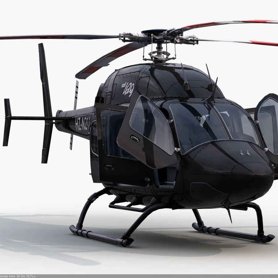 Helikopter Bell 429 royalty-free 3d model - Preview no. 3