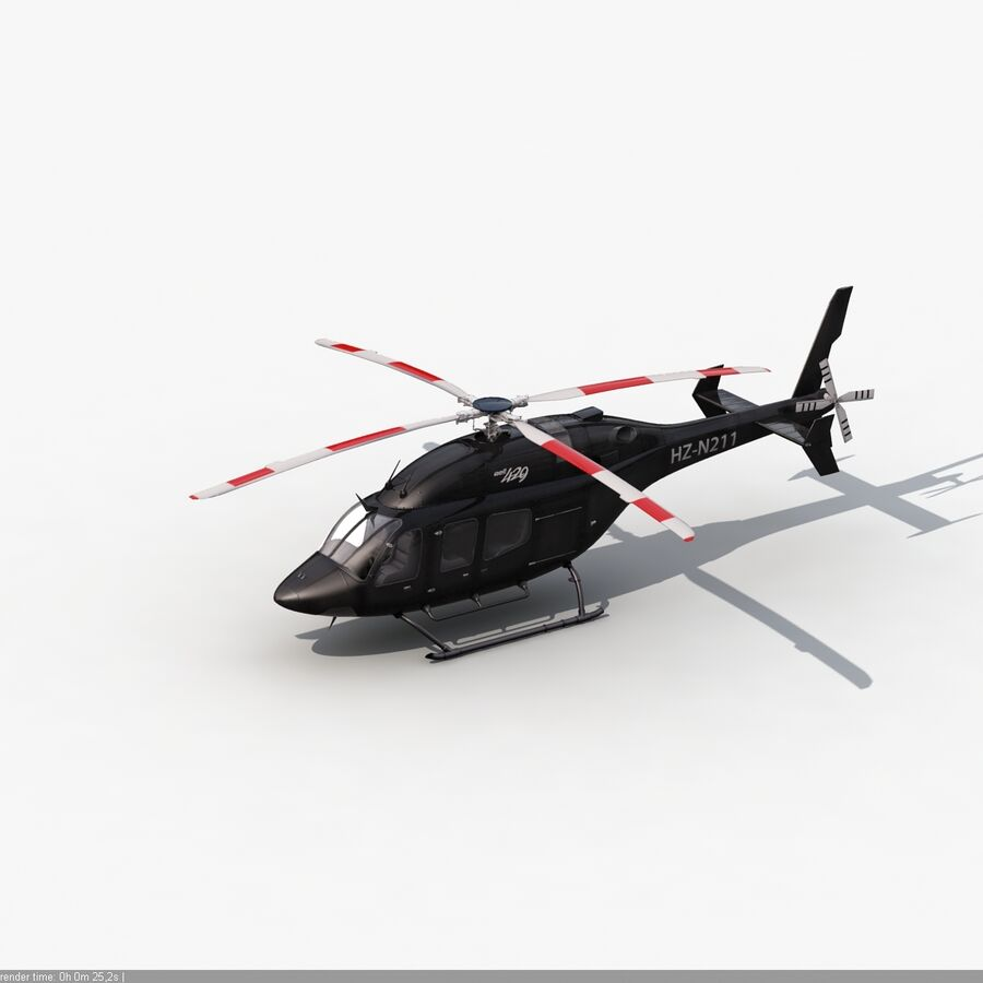 Helikopter Bell 429 royalty-free 3d model - Preview no. 11