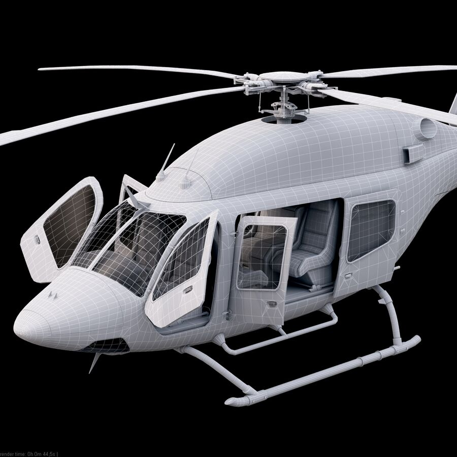 Helikopter Bell 429 royalty-free 3d model - Preview no. 20