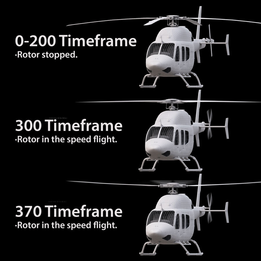 Helikopter Bell 429 royalty-free 3d model - Preview no. 16