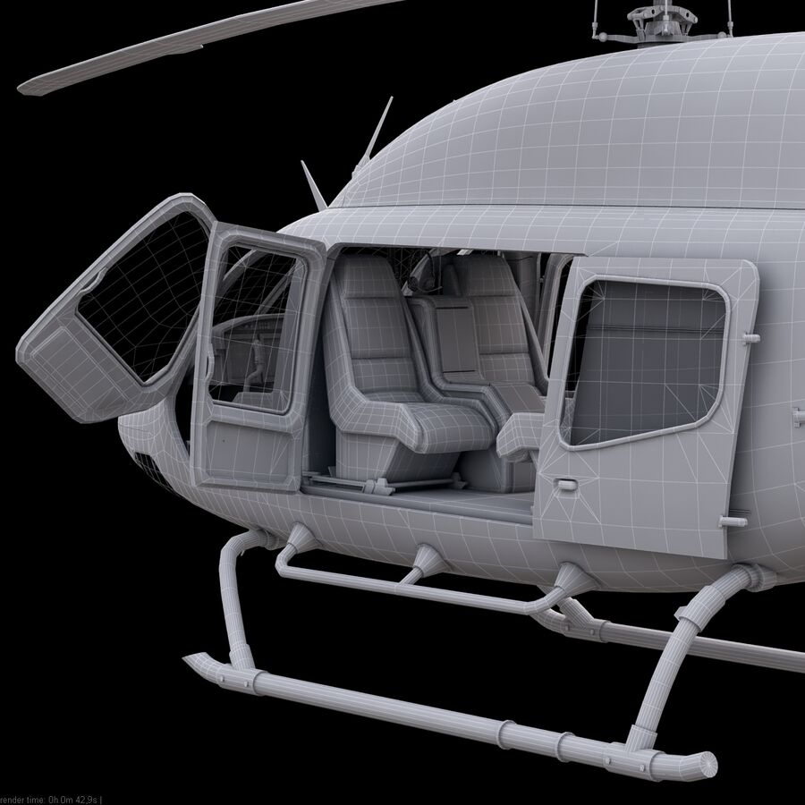 Helikopter Bell 429 royalty-free 3d model - Preview no. 24