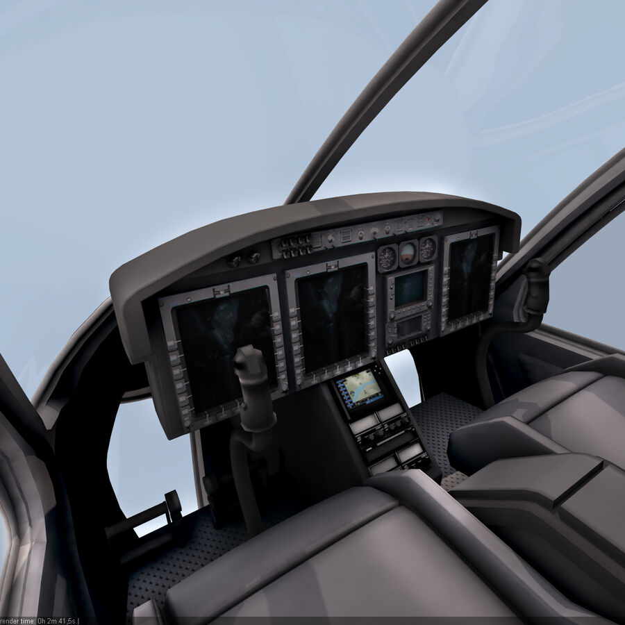 Helikopter Bell 429 royalty-free 3d model - Preview no. 9