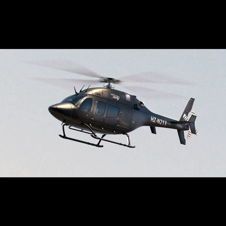Helikopter Bell 429 royalty-free 3d model - Preview no. 4
