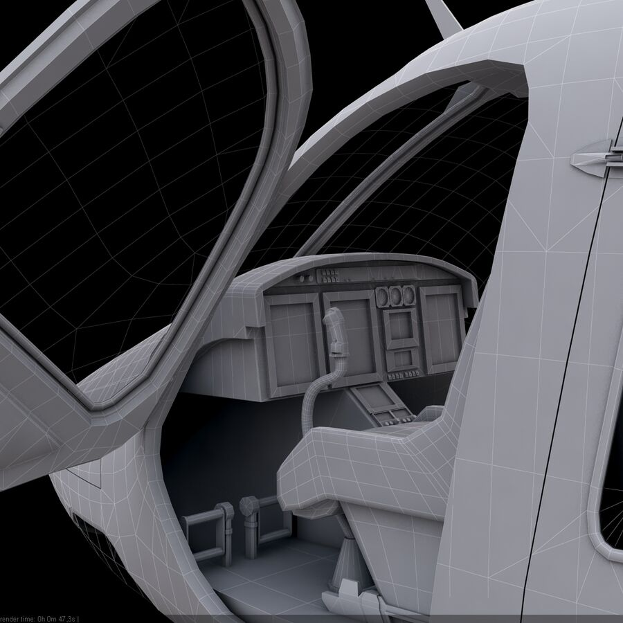 Helikopter Bell 429 royalty-free 3d model - Preview no. 25