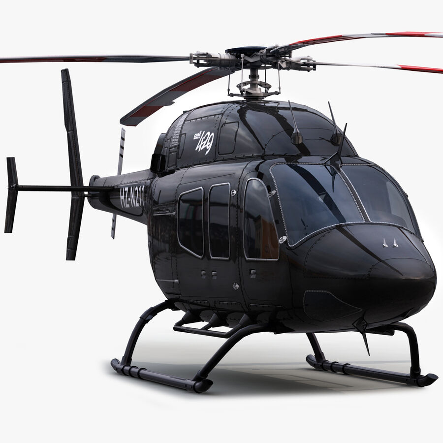Helikopter Bell 429 royalty-free 3d model - Preview no. 1
