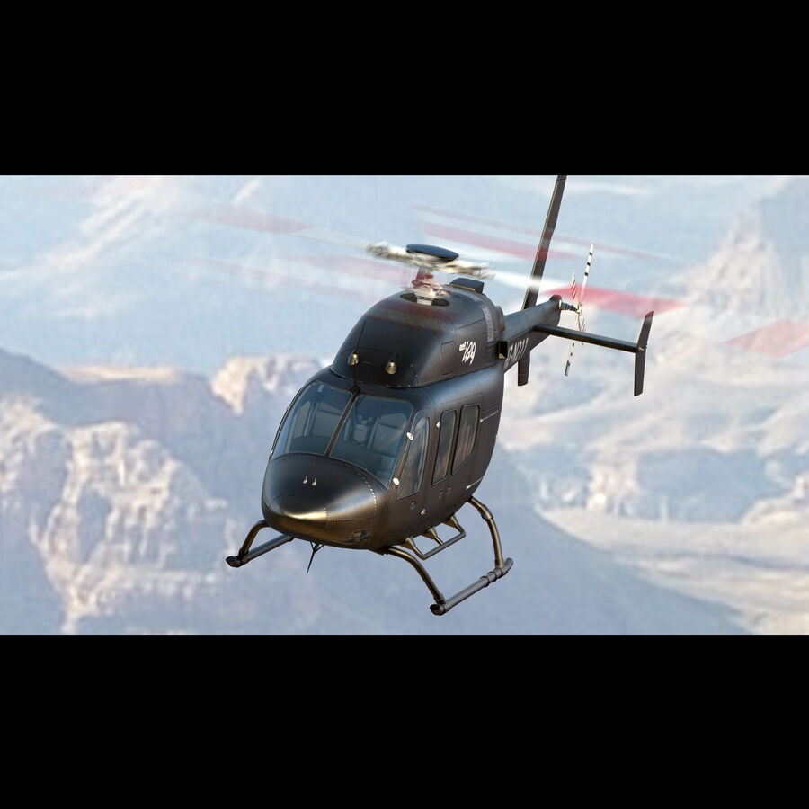 Helikopter Bell 429 royalty-free 3d model - Preview no. 7
