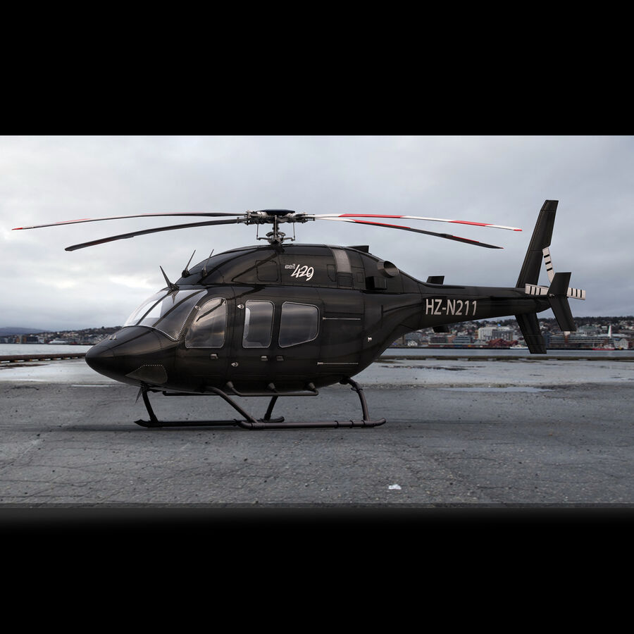 Helikopter Bell 429 royalty-free 3d model - Preview no. 8