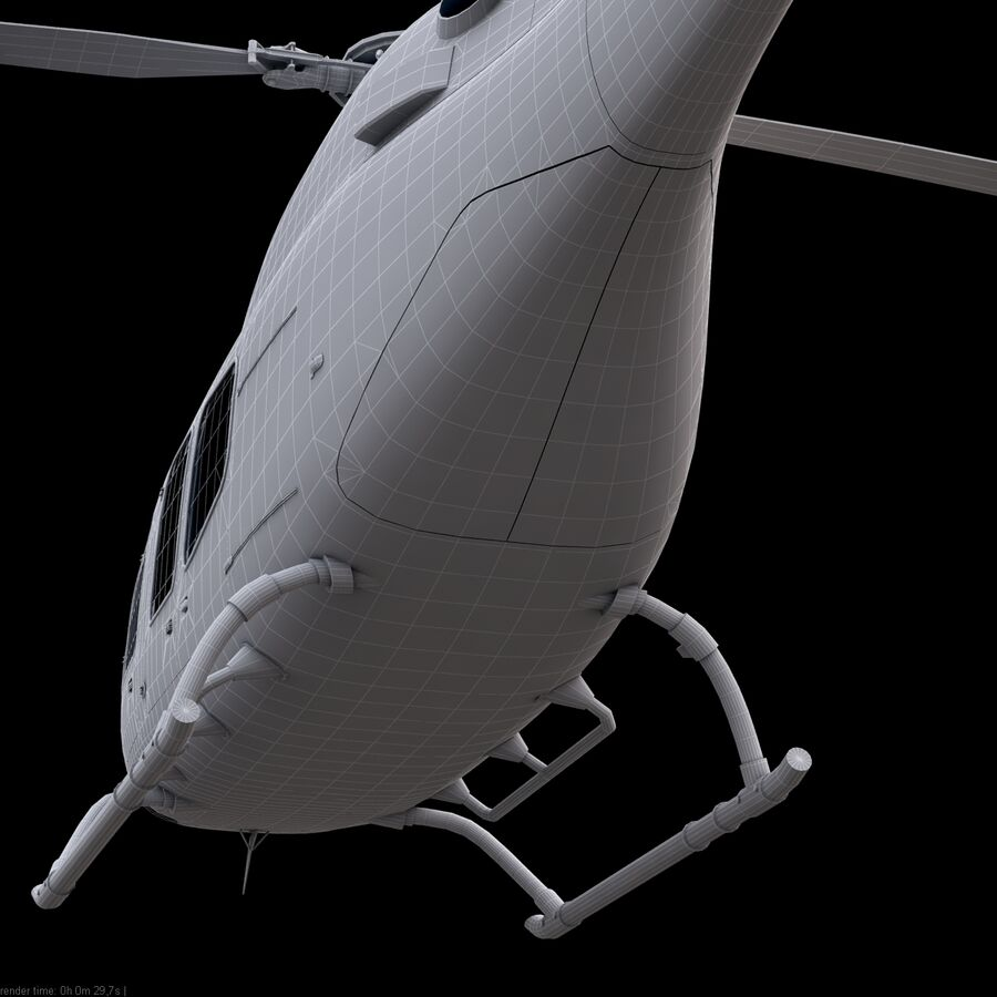 Helikopter Bell 429 royalty-free 3d model - Preview no. 22