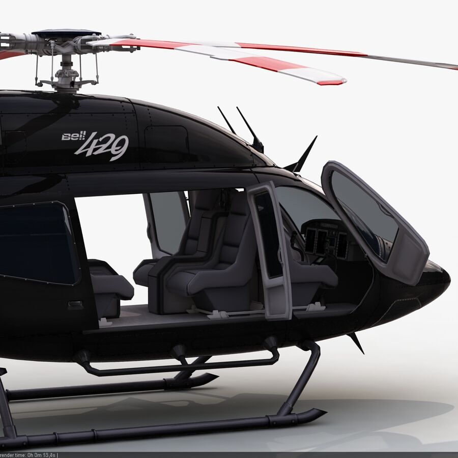 Helikopter Bell 429 royalty-free 3d model - Preview no. 13