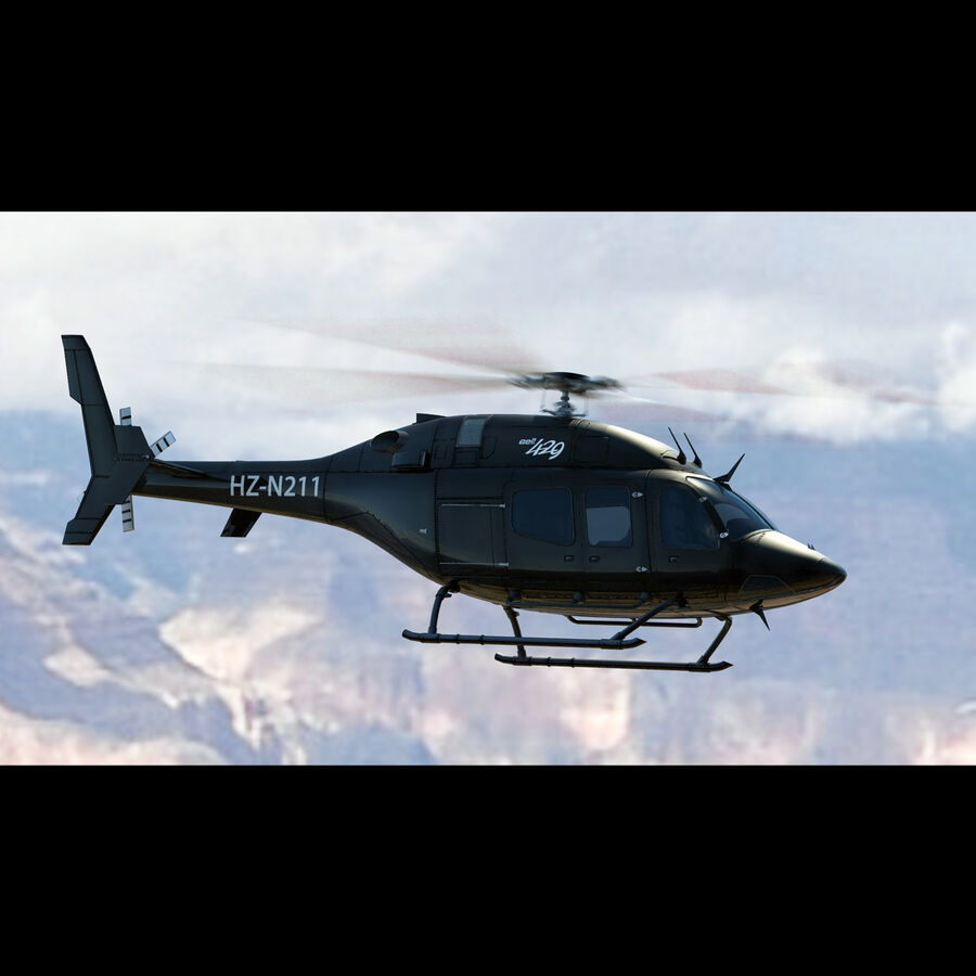 Helikopter Bell 429 royalty-free 3d model - Preview no. 6