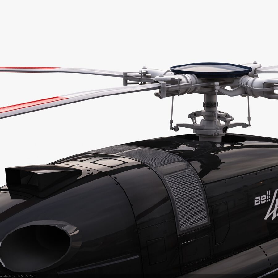 Helikopter Bell 429 royalty-free 3d model - Preview no. 12