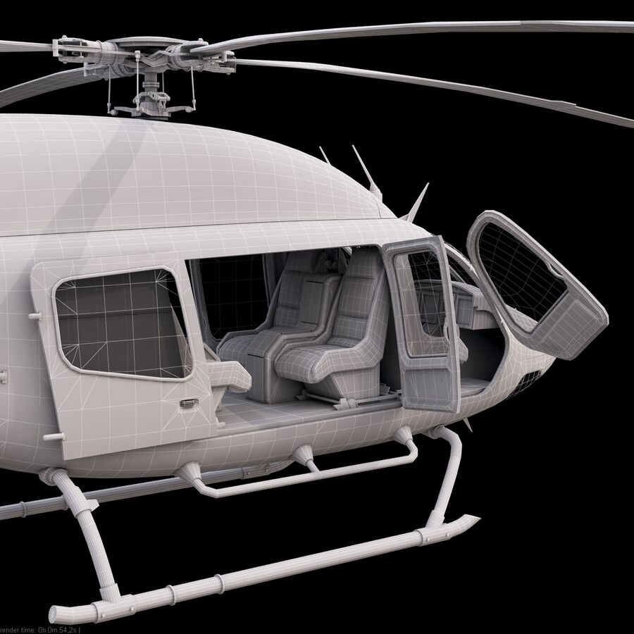 Helikopter Bell 429 royalty-free 3d model - Preview no. 17