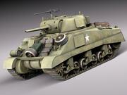 M4A2シャーマン戦車装備 3d model