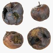 Détail de l'ensemble de collection de pommes pourries pourries 3d model