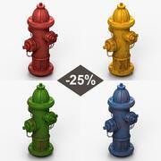 Ensemble de bouches d'incendie 3d model