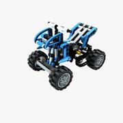 Lego fyrhjuling 3d model