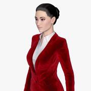 Business Suit Lady 3d model