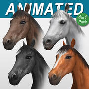 Horse  4 in 1 Bundle 3d model