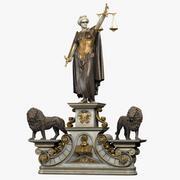 Senhora justiça 3d model