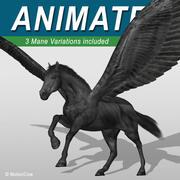 Pegasus Zwart 3d model