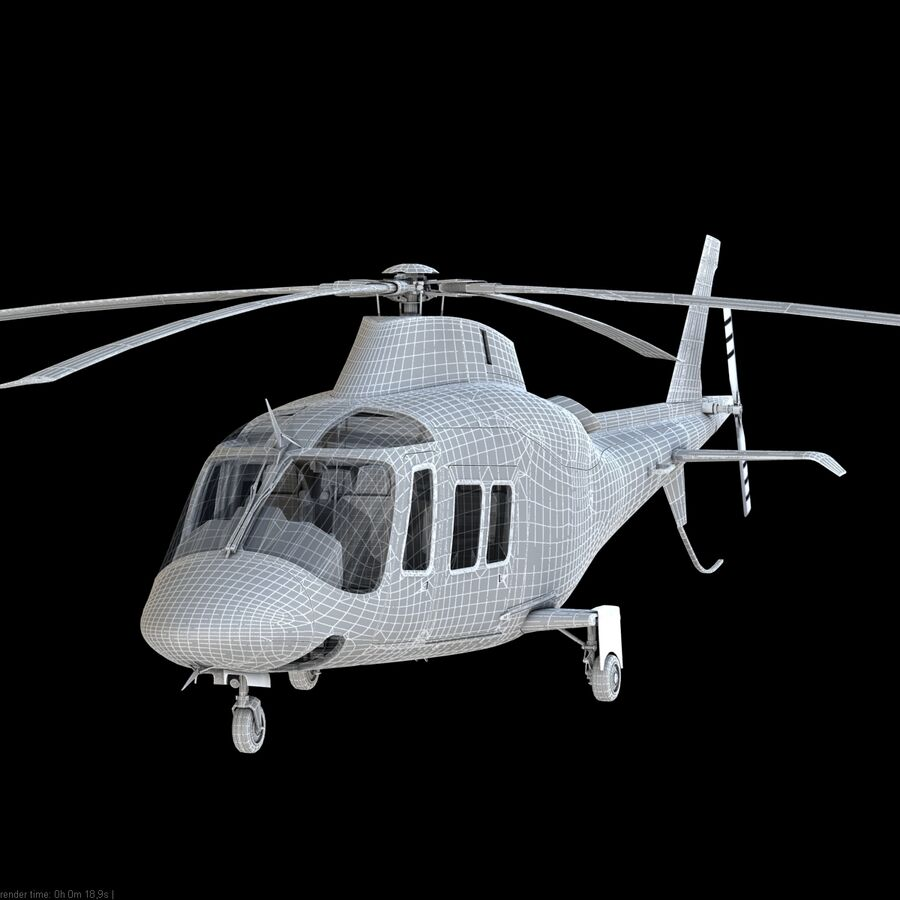 Helikopter AW 109 royalty-free 3d model - Preview no. 13