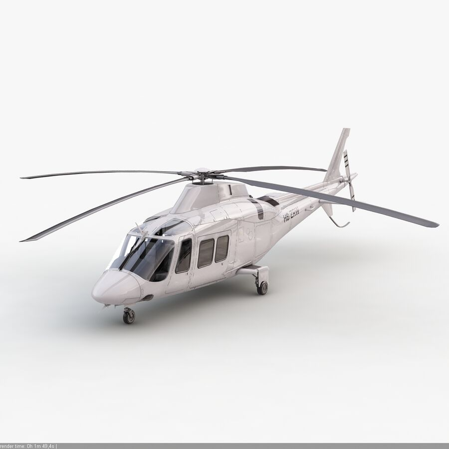 Helikopter AW 109 royalty-free 3d model - Preview no. 9