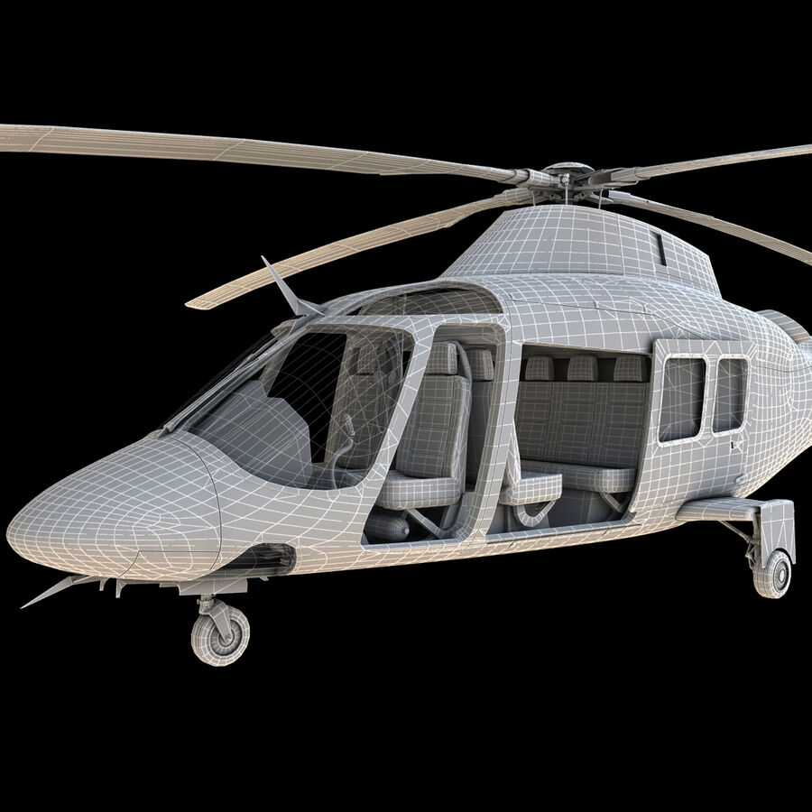 Helikopter AW 109 royalty-free 3d model - Preview no. 25
