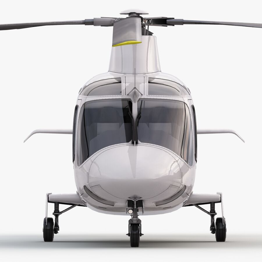 Helikopter AW 109 royalty-free 3d model - Preview no. 11
