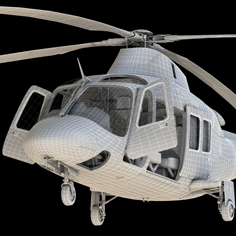 Helikopter AW 109 royalty-free 3d model - Preview no. 19