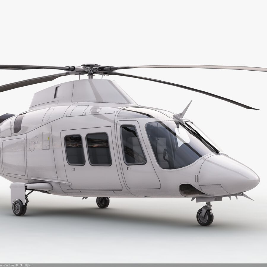 Helikopter AW 109 royalty-free 3d model - Preview no. 8