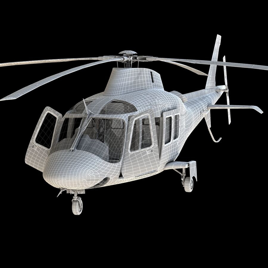 Helikopter AW 109 royalty-free 3d model - Preview no. 18